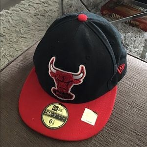 Kids youth Chicago bulls basketball fitted hat